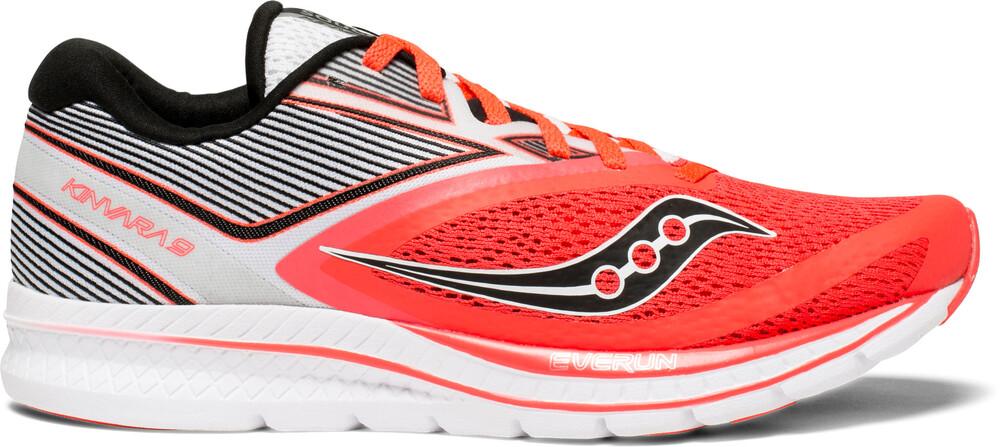 saucony Kinvara 9 Shoes Women Vizipro Red/White US 7 1yeq01